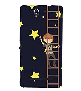 MAN ON LADDER Designer Back Case Cover for Sony Xperia C3 Dual D2502::Sony Xperia C3 D2533