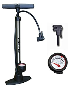 Beto Track Pump Bicycle Cycle Alloy Floor Track Tyre Inflator Schrader/Presta valve Pump with Gauge