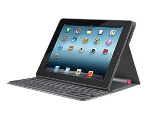 Logitech Bluetooth Solar Tastatur Foliocover für Apple iPad 2/3/4 schwarz (deutsches Tastaturlayout, QWERTZ)