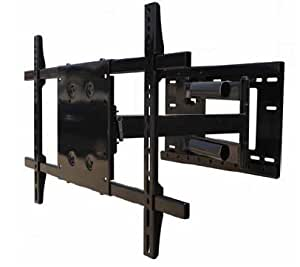 single arm full motion tv wall mount for samsung un55f8000bfxza led flat panel. Black Bedroom Furniture Sets. Home Design Ideas