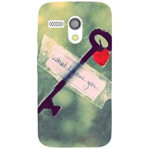 Motorola Moto G Back Cover - Key Designer Cases