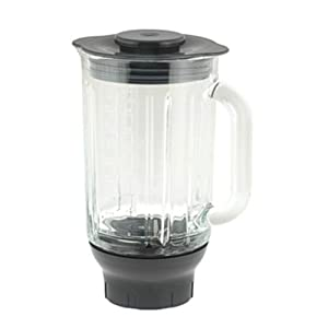 Kenwood AT358 Bol Mixeur Verre Thermo Resistant 1,6 L Base Gris