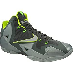 Nike Mens Lebron XI Parachute Gold/Artic Green 616175-700 8