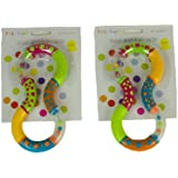 First Steps Twist and Turn Rattles Set of 2 Encouraging your Baby to Grasp and Reach 6 Months +