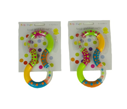 Colourfultwist And Turn Rattles Encouraging Your Baby To Grasp And Reach 6 Months + By First Steps