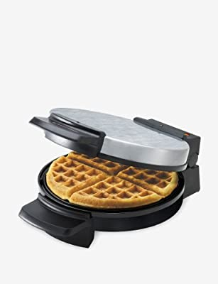 Black & Decker Belgian Round Waffle Maker; Silver