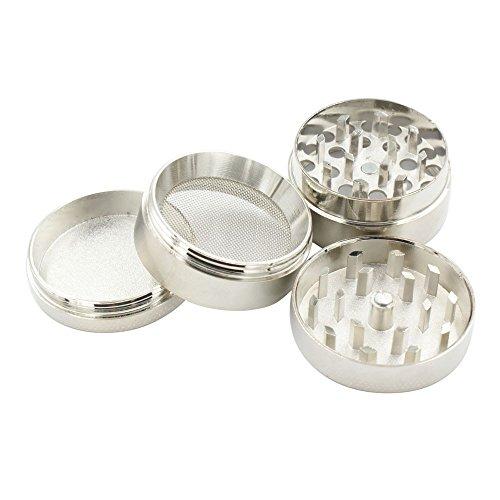 Bestpriceam-New-4-layer-Aluminum-Herbal-Herb-Tobacco-Grinder-Smoke-Grinders-Gray