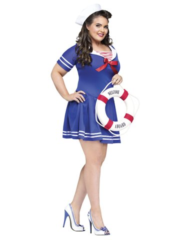 FunWorld Plus-Size Anchors Away Costume