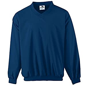 Augusta Sportswear MEN'S MICRO POLY WINDSHIRT/LINED 4XL NAVY