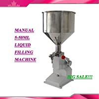 New Manual 5-50ml Liquid Filling Machine Cream Paste Shampoo Cosmetic Filler