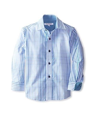 Isaac Mizrahi Boy's Faded Gingham Woven Shirt