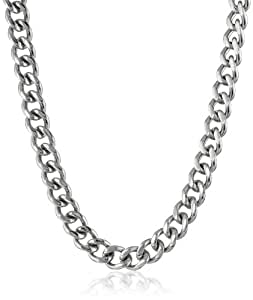 Men's Stainless Steel Curb Chain Necklace, 20""