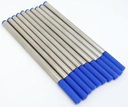 10 PCS Baoer Blue Roller Ball Pen Refills Push Type 0.5mm Point by Pen Accessories