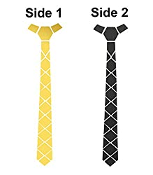 Studio Shubham reversible shining gold mirror and matte black tie