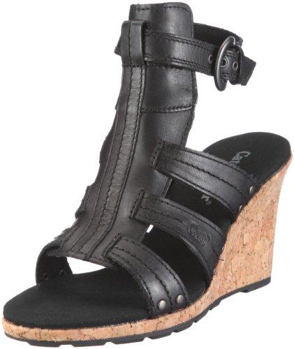 Cat Footwear Women's Athena Black Wedge Sandal P304935 6 UK