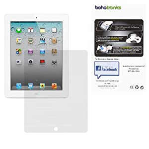 Boho Tronics TM One 1 Border Screen Protector Film Guard - Compatible With Apple iPad 2 and 3 - White