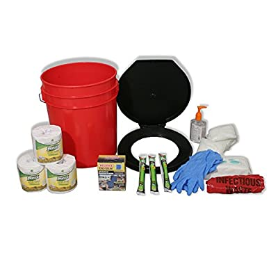 Ready America 71641 Emergency Toilet Bucket Kit for 4-10 Persons