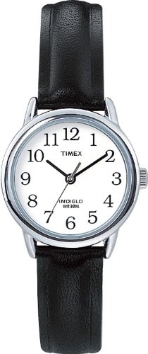 Timex Womens 20441 Easy Reader Black Leather Watch