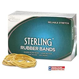 Alliance - 4 Pack - Sterling Ergonomically Correct Rubber Bands #18 3 X 1/16 1900 Bands/1Lb Box \