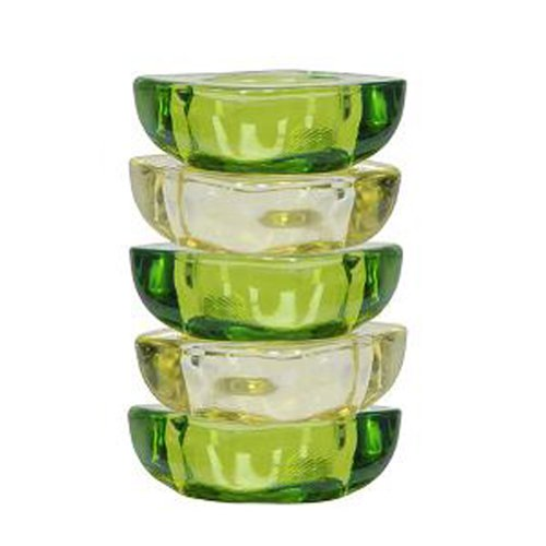 Tealight Holder. Yellow and Green Set