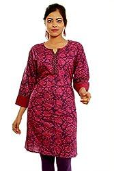 Alobha Beautiful Cotton Red Kurti(AGKI-25,Size-S)