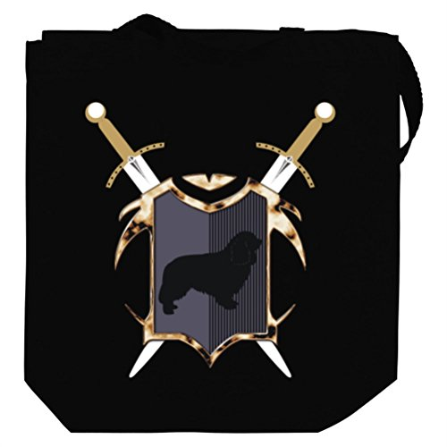 Cavalier King Charles Spaniel Swords and Shield Canvas Tote Bag
