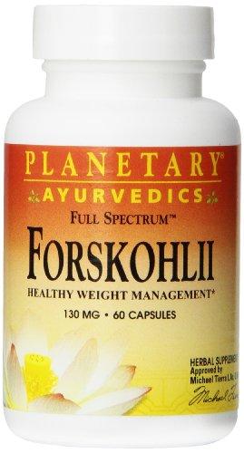 Planetary Herbals Forskohlii Full Spectrum Ayurvedic Nutritional Supplement, 130 Mg, 60 Count