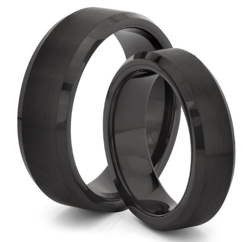 His & Her's 8MM/6MM Tungsten Carbide Brushed