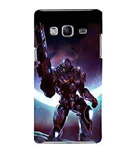 printtech Space Hero Warrior Game Back Case Cover for Samsung Z3 :: :Samsung Z300H/DD