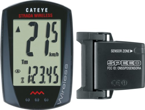 Cateye CC-RD300W Strada Wireless Bicycle Computer (Black)