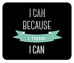 I CAN Because I Think I CAN Black Instpirational Motivational Quote