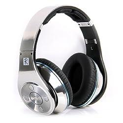 Bluedio R+ Legend Wireless Bluetooth Headphones with Mic & Micro SD Card Slot, Revolutionary 8 Drivers Deep Bass (Silver)