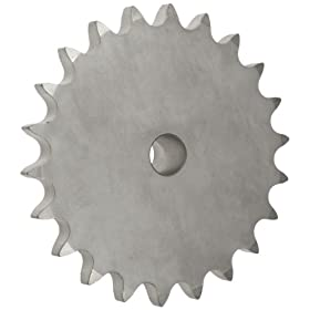 "Martin Roller Chain Sprocket, Stainless Steel, Reboreable, Type B Hub, Single Strand, 60 Chain Size, 0.75"" Pitch, 13 Teeth, 0.75"" Bore Dia., 3.493"" OD, 2.3438"" Hub Dia., 0.168"" Width"