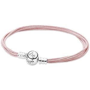 Pandora Damen Armband 925 Sterling Silber Stoff 21.0 cm 590715CSP-M3