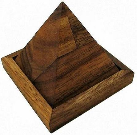 Cheap Winshare and Games Triangle Pyramid Wooden Brain Teaser Puzzle (B005IDO67W)