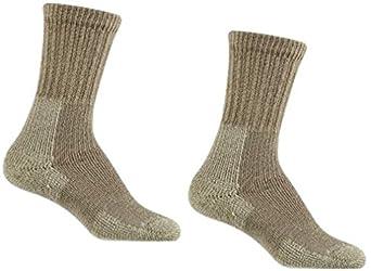 Thorlo Women's Thick Cushion Hiking Sock (Small, Khaki 2-Pack)