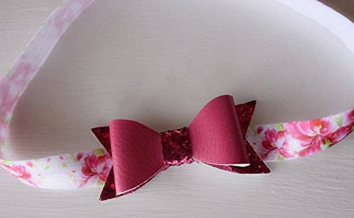 Blooming Hibiscus Hot Pink Glitter Bow Headband (Aloha Shower Head compare prices)