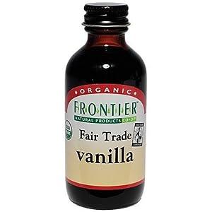 Frontier Vanilla Extract Fair Trade Certified & Organic, 2-Ounce Bottle