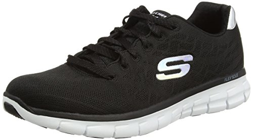 Skechers - Synergy-Moonlight Madness, Sneakers da donna, nero (bkw), 40