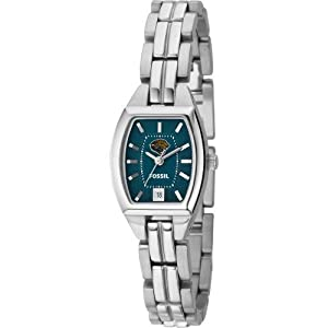 Fossil Jacksonville Jaguars Ladies Stainless Steel Analog Cushion Watch by Fossil