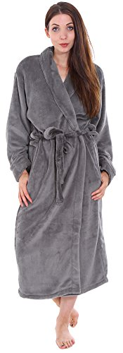 Plush Spa Hotel Kimono Bath Robe   Bathrobe Sleepwear for Women Men Steel  Grey 70ca2508a