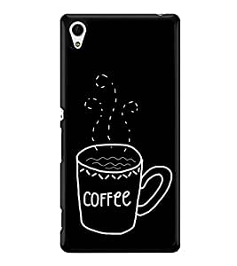 Coffee Clipart 2D Hard Polycarbonate Designer Back Case Cover for Sony Xperia Z4