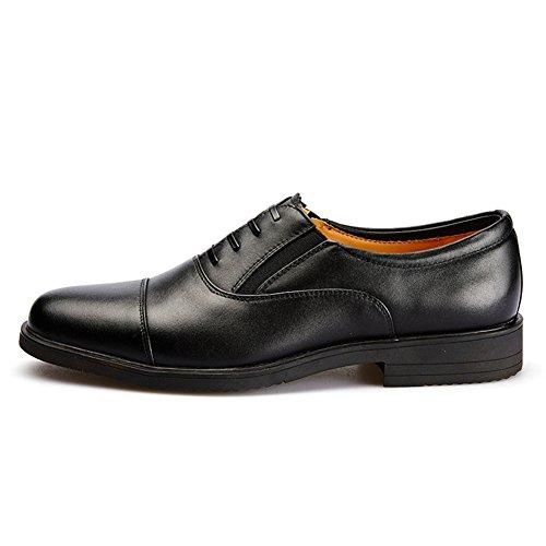 Primavera e autunno cuoio scarpe/Pattini di vestito/Taglio basso scarpe-Nero Lunghezza piede=23.8CM(9.4Inch)