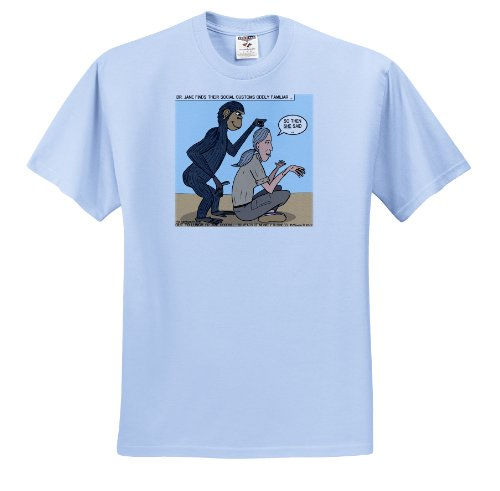 Dr. Jane Goodalls 50th anniversary at GDI - monkey grooming - Light Blue Infant Lap-Shoulder Tee (12M)