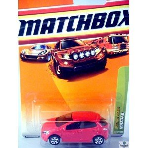 Mazda2 * Red * Metro Rides Series (#3 Of 6) Matchbox 2010 Basic Die-Cast Vehicle (#27 Of 100) front-622210