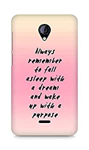 AMEZ always remember to fall asleep with a dream Back Cover For Micromax Unite 2 A106