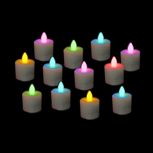 Set Of 12 Replacement Color-Changing Led Rechargeable Tea Lights (For Set 98812)