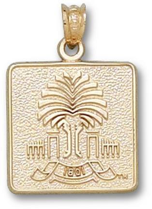 South Carolina Gamecocks Emblem Pendant - 14KT Gold Jewelry by Logo Art