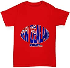 Twisted Envy Girl39s New Zealand Rugby Ball Flag Organic Cotton T-Shirt