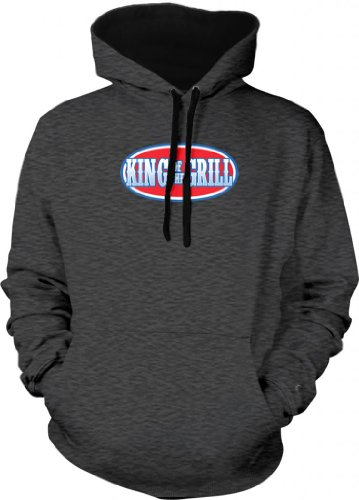 King Of The Grill Two Tone Hooded Sweatshirt (Char, Small)